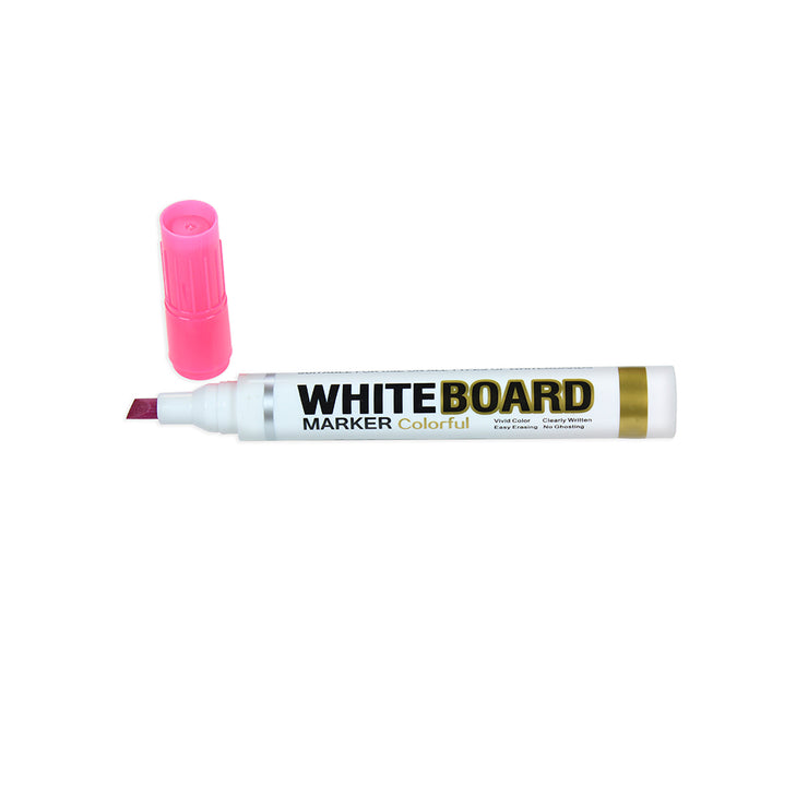White Board Marker - Flat, 3mm Tip, Pink