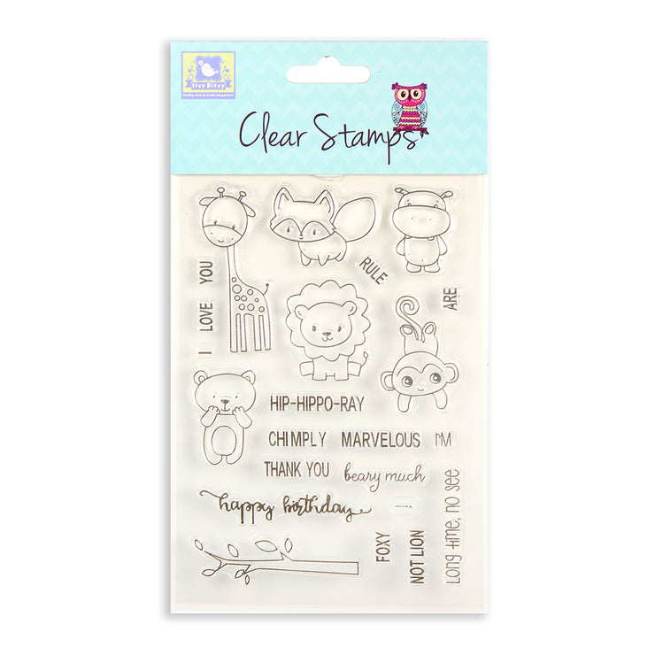 Clear Stamps - Jungle Birthday