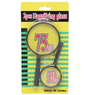 Magnifying Glass Set Of 2- 75 & 50mm, 1pk