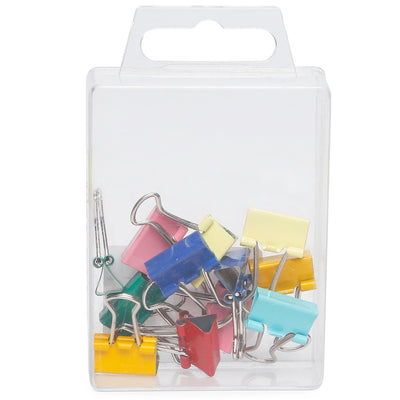 Binder Clips Asst Colour- 15mm, 12pc