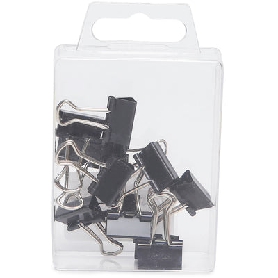 Binder Clips Black- 15mm, 12pc