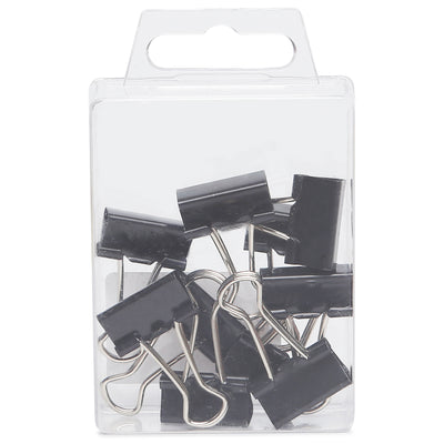 Binder Clips Black- 19mm, 10pc