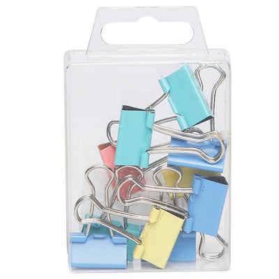 Binder Clips Asst Colour- 19mm, 10pc