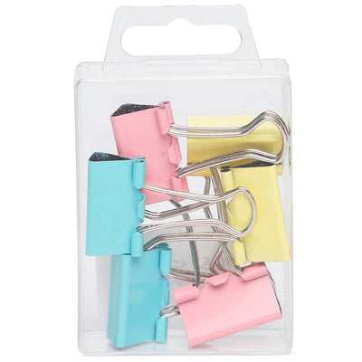 Binder Clips Asst Colour- 25mm, 6pc
