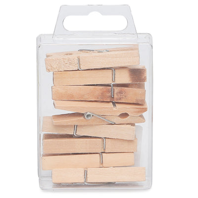 Wooden Pegs - Natural, 4.5cm, 8pc, 1 Box