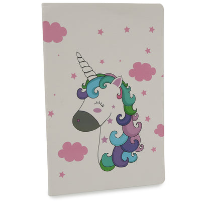 Soft Bound Notebook - Pretty Unicorn, A5 64 Ruled Pages, 1pc
