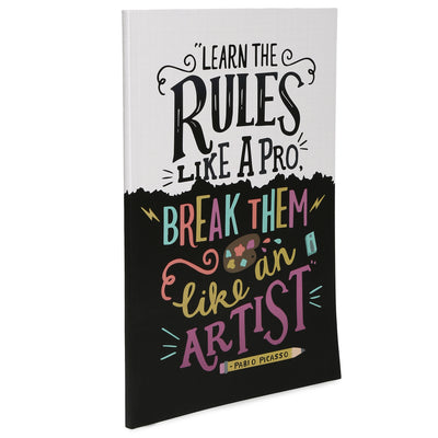 Soft Bound Notebook - Learn and Break Rules, 29x20.5cm, 160 Ruled Pages, 1pc