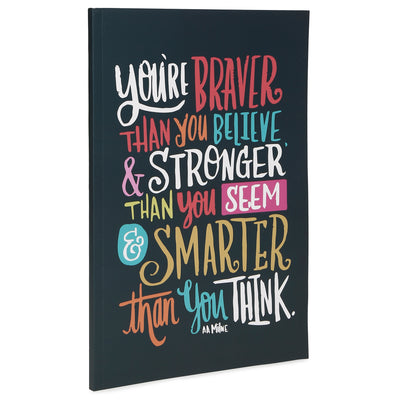 Soft Bound Notebook - Braver, Stronger, Smarter, 29x20.5cm, 160 Ruled Pages, 1pc
