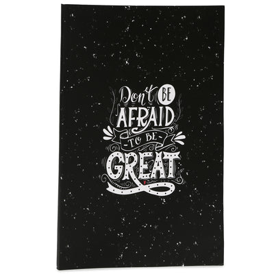 Soft Bound Notebook - Don't Be Afraid, 29x20.5cm, 160 Ruled Pages, 1pc