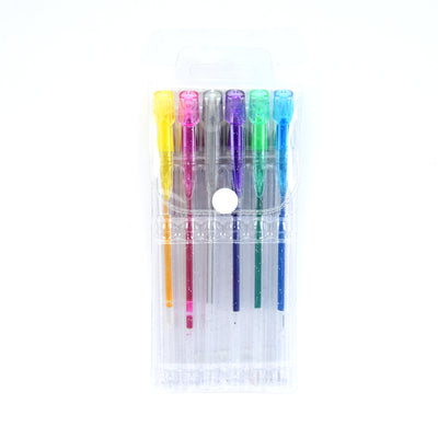 Glitter Pen Assorted Colour - 6Pc Set