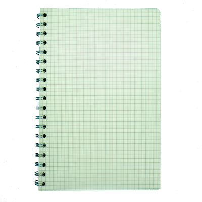 Spiral Bound Notebook With String Closure - Grid 25X16, 160 Pages, 1Book