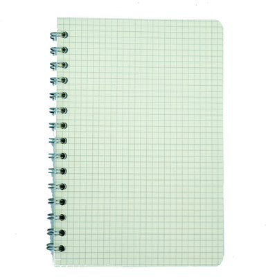 Spiral Bound Notebook With String Closure Grid, 14X9.5, 160 Pages, 1Book