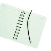 Spiral Bound Notebook With String Closure - Ruled, 21X13, 160 Pages, 1Book