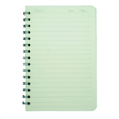 Spiral Bound Notebook With String Closure - Ruled 14X9.5, 160 Pages, 1Book