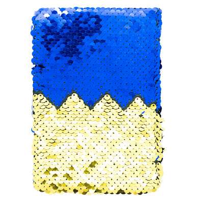 Reversible Sequin Notebook- Sparkling Blue And Gold, 15.5X11Cm, 150 Pages, 1Book