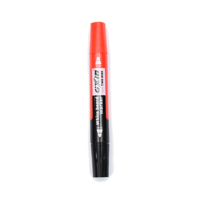 White Board Marker - 2Mm, Dual Tip Red And Balck, 1Pc