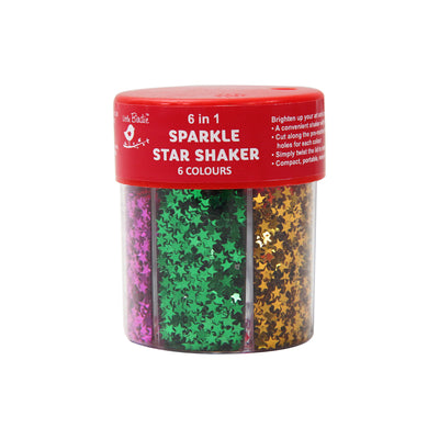 6 In 1 Sparkle Star Shaker - 6 Color, 1pc