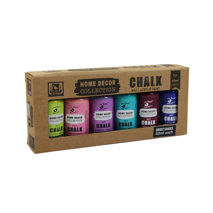 Home Decor Chalk Paint Kit 6Pcs X 60Ml Brights