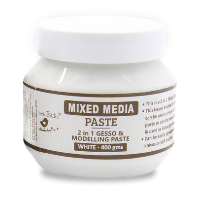 Mixed Media Paste 2 In 1 -White 400gm