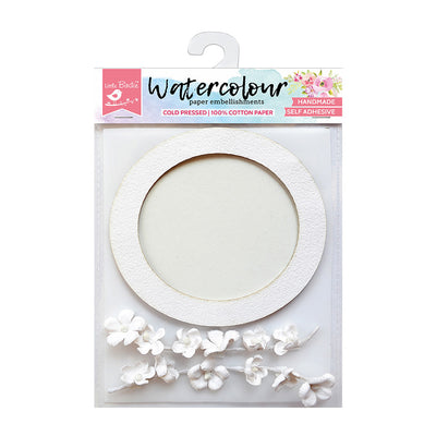 Watercolour Paper Round Frame with Floral Climber, 3 Pcs