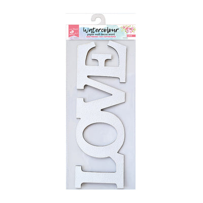 Watercolour Paper Wall Decor Word - Love, 1 Pc