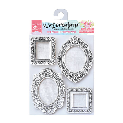 Watercolour Embellishments- Classic Frames, Self-adhesive, 4 Pcs