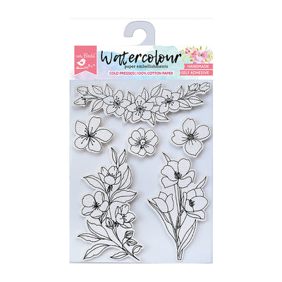 Watercolour Embellishments- Abloom, Self-adhesive, 6 Pcs