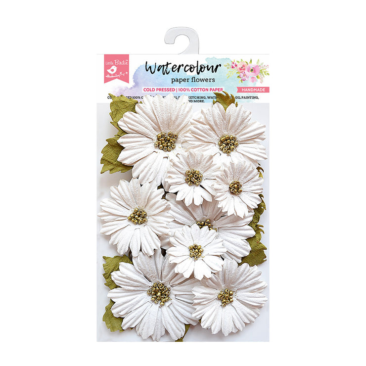 Watercolour Paper Flowers - Daisies, 11 Pcs
