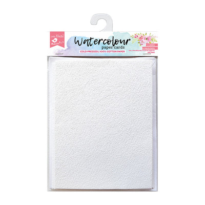 Watercolour Paper Cards - Set of 4 cards and 4 envelopes, 4x6Inch, 220GSM, 8Pcs