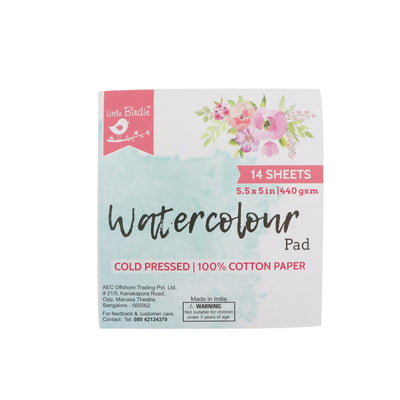 Watercolor Pad - 440 gsm 5.5 X 5 Inch 14 Sheets