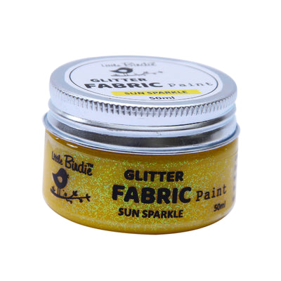 Glitter Fabric Paint - Sun Sparkle 50ml, 1pc