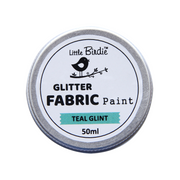 Little Birdie Glitter Fabric Paint - Teal Glint 50ml, 1pc