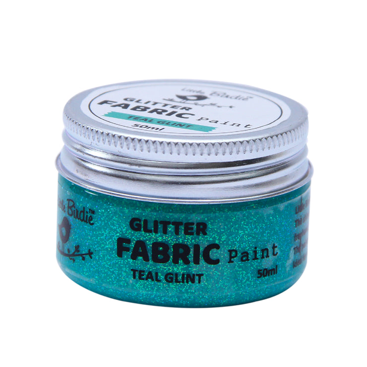 Glitter Fabric Paint - Teal Glint 50ml, 1pc