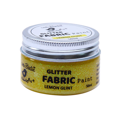 Glitter Fabric Paint - Lemon Glint 50ml, 1pc