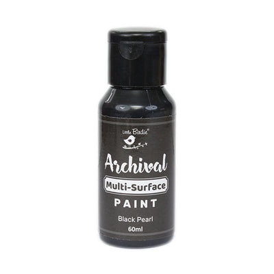 Archival Multi-Surface Paint 60ml- Black Pearl, 1Pc