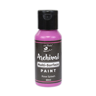 Archival Multi-Surface Paint 60ml- Rose Splash, 1Pc