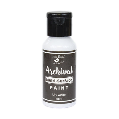 Archival Multi-Surface Paint 60ml- Lily White, 1Pc