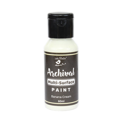 Little Birdie Archival Multi-Surface Paint, 60ml - Banana Cream