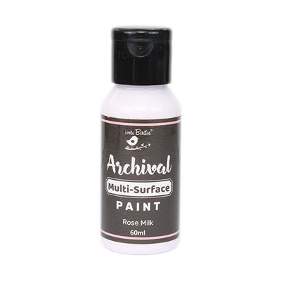 Little Birdie Archival Multi-Surface Paint, 60ml - Rose Milk