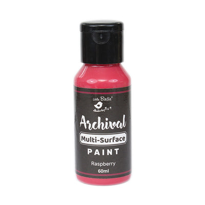 Little Birdie Archival Multi-Surface Paint, 60ml - Raspberry