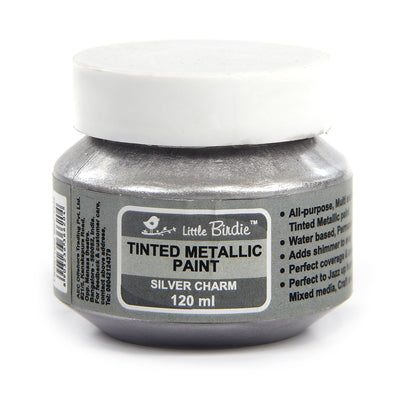 Tinted Metallic Paint 120ml -Silver Charm