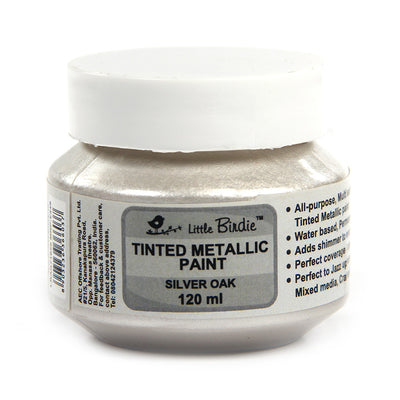Tinted Metallic Paint 120ml -Silver Oak