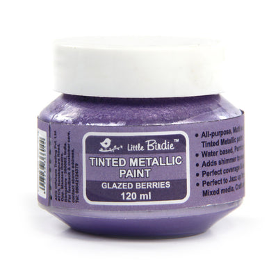 Tinted Metallic Paint 120ml -Glazed Berries