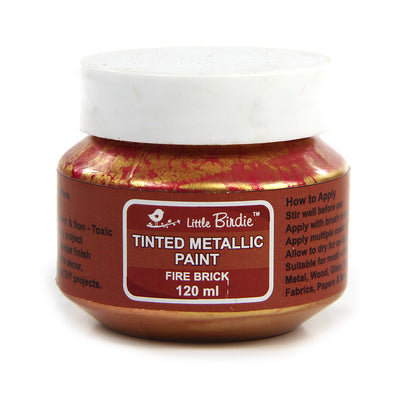 Tinted Metallic Paint 120ml -Fire Brick