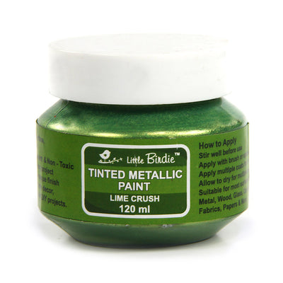 Tinted Metallic Paint 120ml -Lime Crush