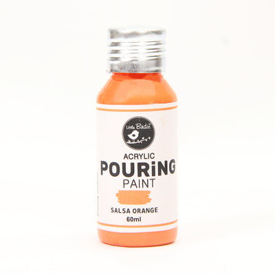 Acrylic Pouring Paint 60 ml - Salsa Orange