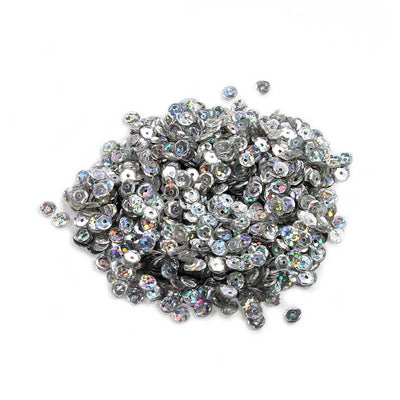 Sequins - Silver 6mm, 10gm