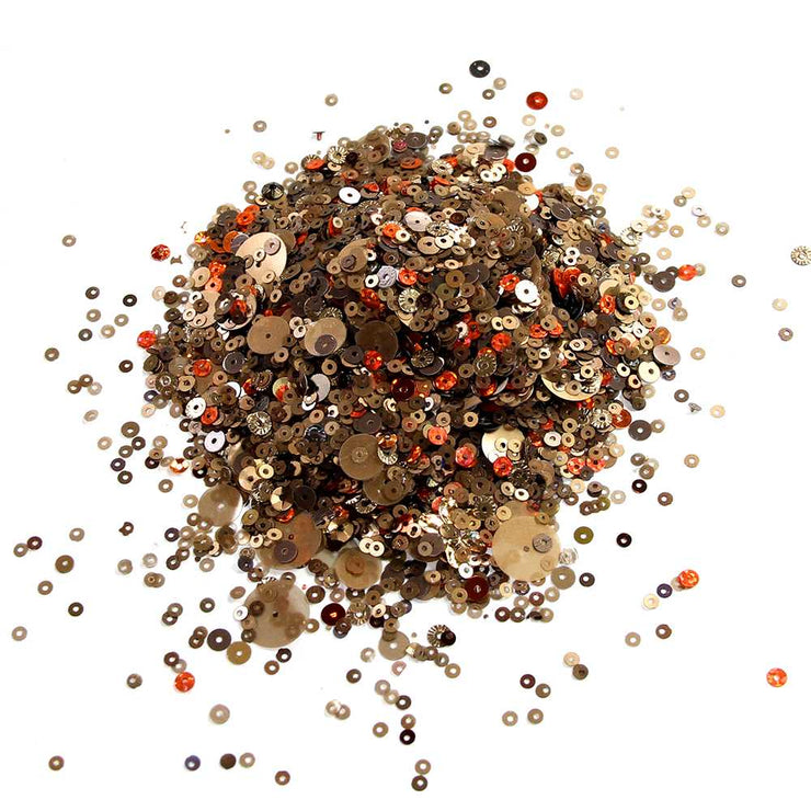 Sequins - Assorted, Brown 60gm