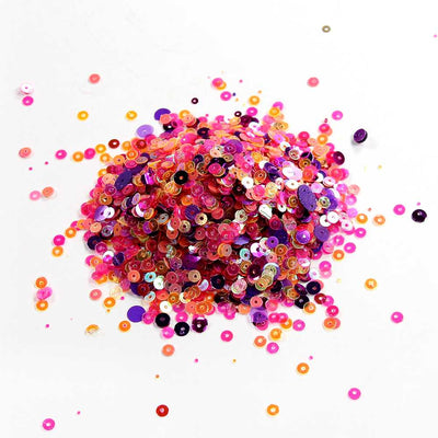 Sequins - Assorted, Pink Mix 60gm
