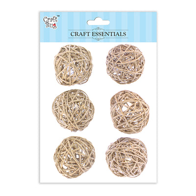 Wicker Balls Natural -1.5inch